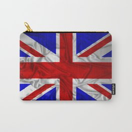 Wrinkled Union Jack Flag Carry-All Pouch