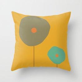 Abstract Retro Pop Art Throw Pillow