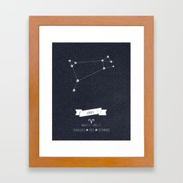 Aries Constellation Print Framed Art Print