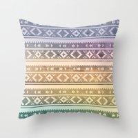 navajo Throw Pillows featuring Navajo by Sarah Slegh