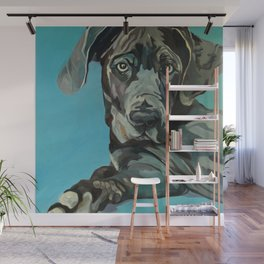 Great Dane Dog Portrait Wall Mural