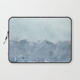 bluish grey landscape Laptop Sleeve