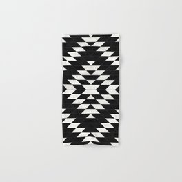 Urban Tribal Pattern No.14 - Aztec - Black Concrete Hand & Bath Towel
