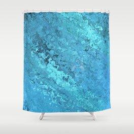 Aqua Distortion Shower Curtain