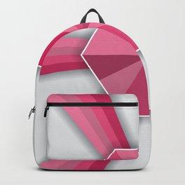 Hexagonal Pink Shape Geometric Shape Pattern Backpack
