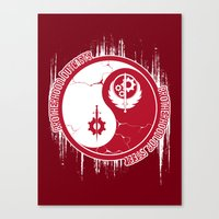 fallout 3 Canvas Prints featuring Opposing Fallout by Morisato