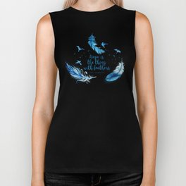 Hope is the thing with feathers Biker Tank