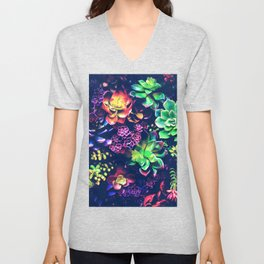 Colorful Plants Unisex V-Neck