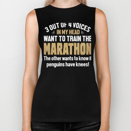 Marathon Runner Voices In My Head Biker Tank