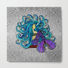 2017 Blue Mermaid Metal Print