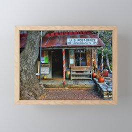Luckenbach TX Framed Mini Art Print