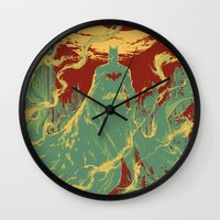 gotham Wall Clocks featuring Gotham Knight by Hai-ning