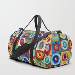 Colorful circles tile Duffle Bag
