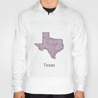 texas Hoodies featuring Texas by David Zydd