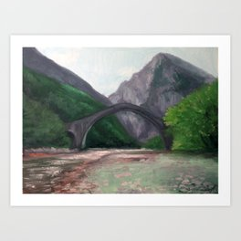 The Bridge of Plaka—Greece Art Print
