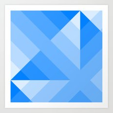 Blue Gradient abstract Art Print