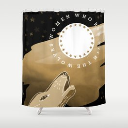 Running With The Wolves Shower Curtain