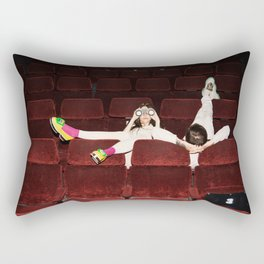 I enjoy going to the cinema. Taking a dress off. Closing my eyes. Watching the Dreamers Rectangular Pillow