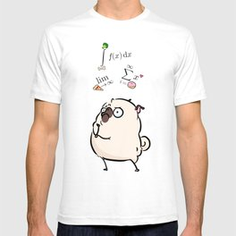 Deep Thoughts - pug calculus T-shirt