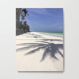 Palm Tree Shadow Land Metal Print