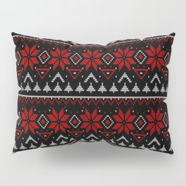 Scandinavian knitting Christmas ugly sweater ornamental decor Pillow Sham