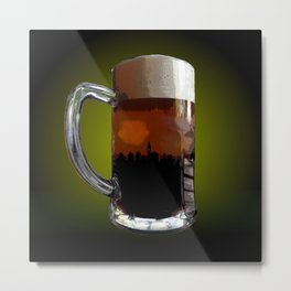 Big Beer Metal Print