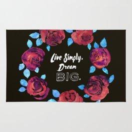Live Simply. Dream Big. Rug