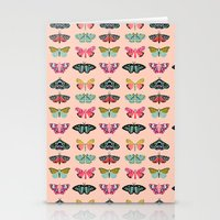 study Stationery Cards featuring Lepidoptery No. 1 by Andrea Lauren  by Andrea Lauren Design