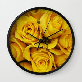 Normal Yellow Rose Wall Clock