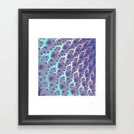 Mint Fractal Waterfall Framed Art Print