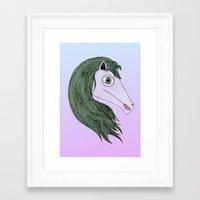 my little pony Framed Art Prints featuring My Little Pony by Josefina F. Vigó