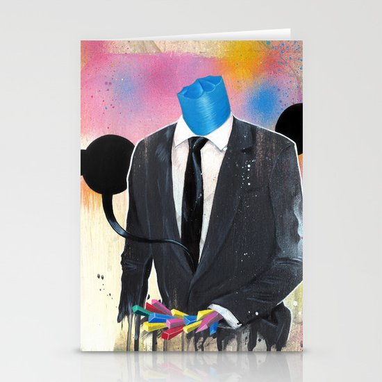Plasticine man in a suit. Stationery Cards