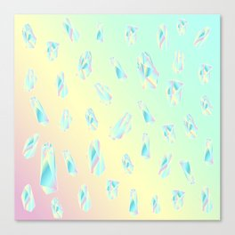 Quartz pattern - rainbow Canvas Print