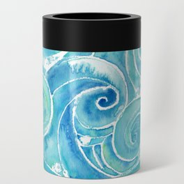 Watercolor Waves Can Cooler
