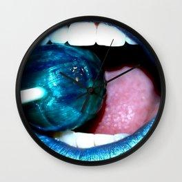 Blue Lolly Wall Clock