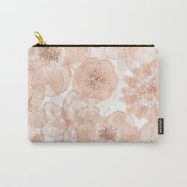 Flowers and Lace- Floral pattern in pink Carry-All Pouch