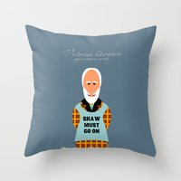 literature Throw Pillows featuring Victorian Literature - Shaw by Natallia Pavaliayeva