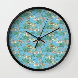 Aloha blue Wall Clock