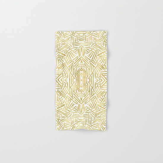 Radiate - Gold Hand & Bath Towel