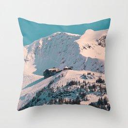 Mt._Alyeska Ski_Resort - Alaska Throw Pillow