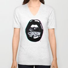 Space Lips Unisex V-Neck