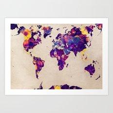 world map 20 Art Print