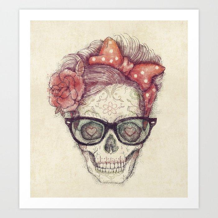 Hipster Girl is Dead Art Print