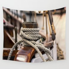 linen rope from the old ship Wall Tapestry