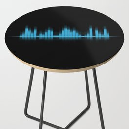 Cool Blue Graphic Equalizer Music on black Side Table