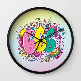 DAILY DRAWING NUMBER 666 Wall Clock