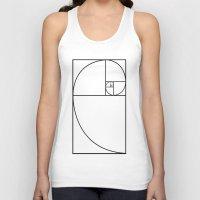 fibonacci Tank Tops featuring fibonacci spiral by nyealexanda