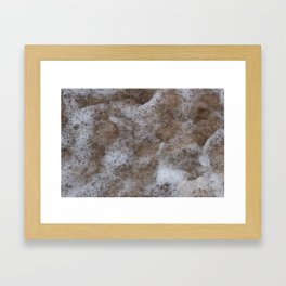 Sea Foam - Abstract Coastal Art Framed Art Print