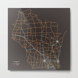 Wisconsin Highways Metal Print