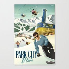 Sundance Ski Poster Canvas Print
